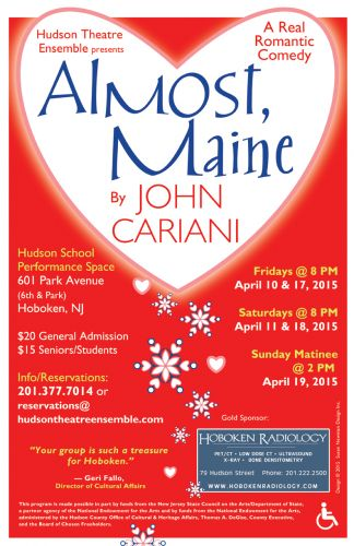 Almost Maine poster 2015 by Susan Newman Design Inc