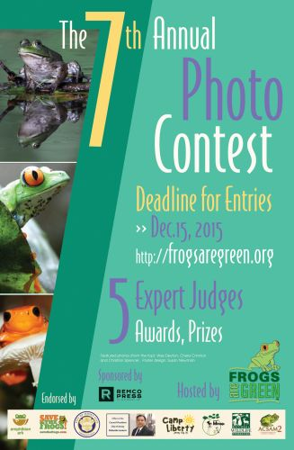 7th Annual Frogs Are Green Photo Contest - design by Susan Newman