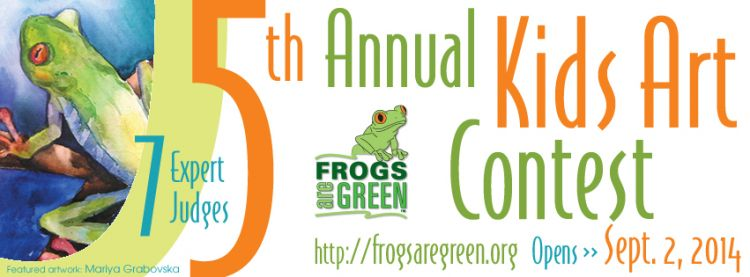 5th Annual kids art contest hosted by Frogs Are Green