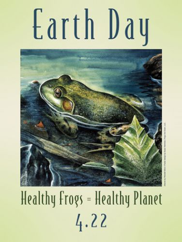 Earth day - Healthy Frogs = Healthy Planet - Illustrated by Wendell Minor