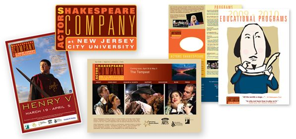 Actors Shakespeare Company at NJ - rebranding web and print marketing