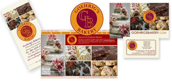 Goehrig's Bakery, Jersey City, branding print and web presence