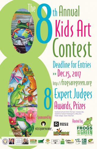2017 Kids Art Contest hosted by Frogs Are Green - poster design by Susan Newman