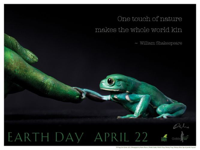 Earth Day - One Touch Poster - Photo by Robin Moore
