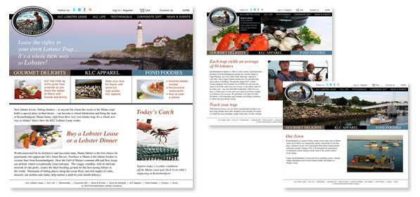 Kennebunkport Lobster Company - website designs
