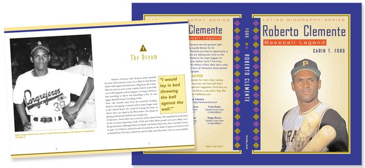 Roberto Clemente - book cover and interior design