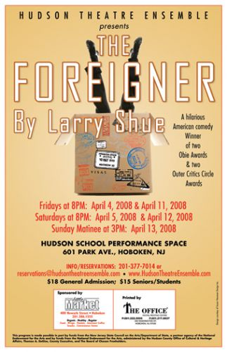 The Foreigner theater poster design