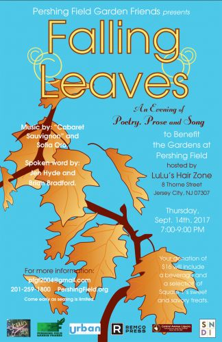 Falling Leaves 2017 for Pershing Field Garden Friends - Poster design by Susan Newman