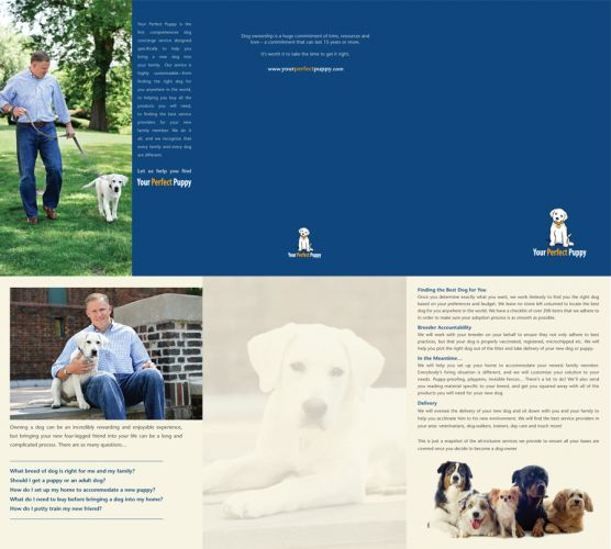 Brochure Folder design for Your Perfect Puppy