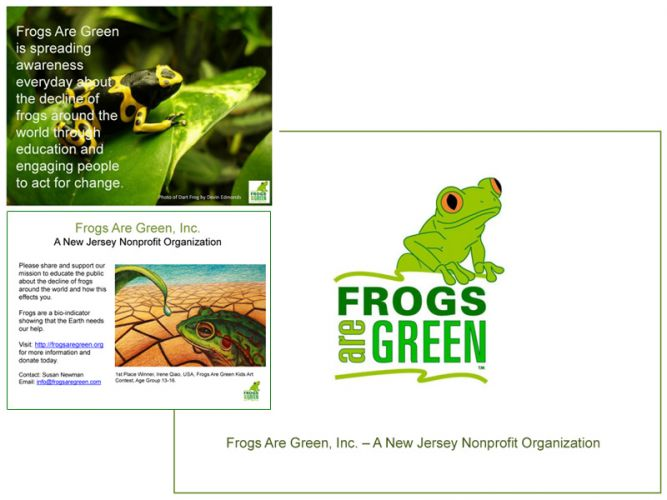 PowerPoint design for Frogs Are Green.