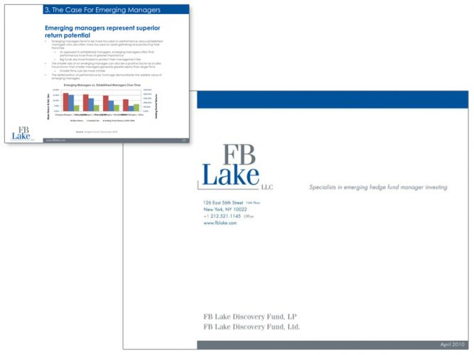 Powerpoint design for financial company FB Lake
