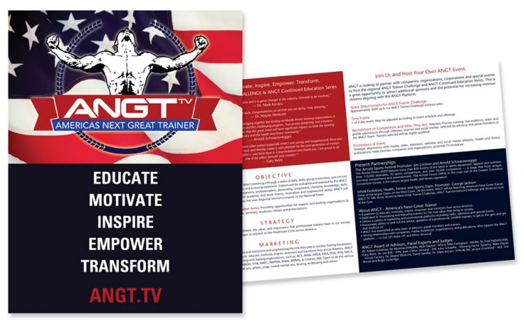ANGT - America's Next Great Trainer Brochure Design by Susan Newman