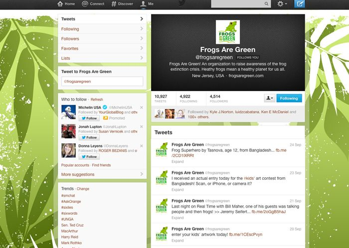 Frogs Are Green on Twitter