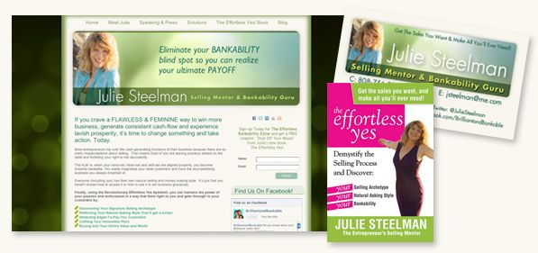 Julie Steelman branding, marketing , book cover design and website design