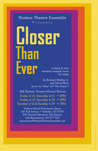 Closer Than Ever poster design