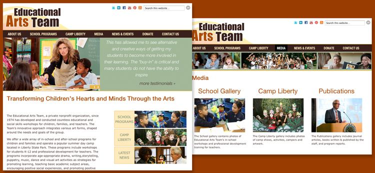 Educational Arts Team - Responsive Wordpress website design