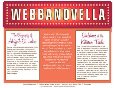 Webbanovella - website design