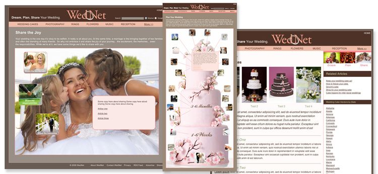 WedNet Wedding website design