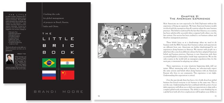 The Little BRIC Book by Brandi Moore - Book cover and interior design