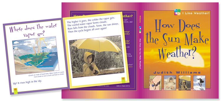 How Does the Sun Make weather - children's book cover and interior design
