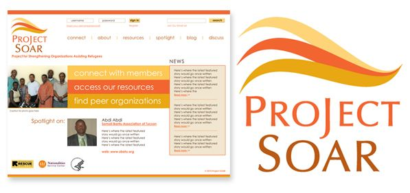 Project SOAR - branding, logo design and website design