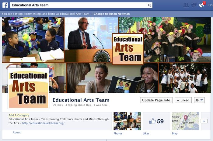 Educational Arts Team on Facebook