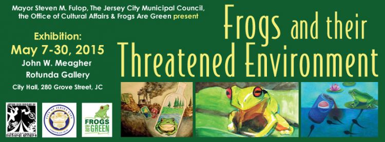 Frogs and Their Threatened Environment at Jersey City City Hall Rotunda May 2015