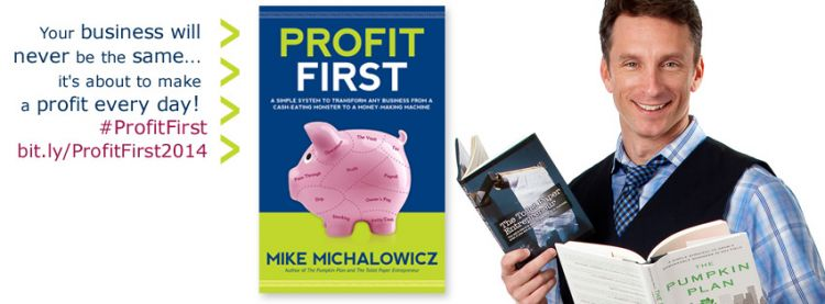 Profit First by Mike Michalowitz - Facebook header design