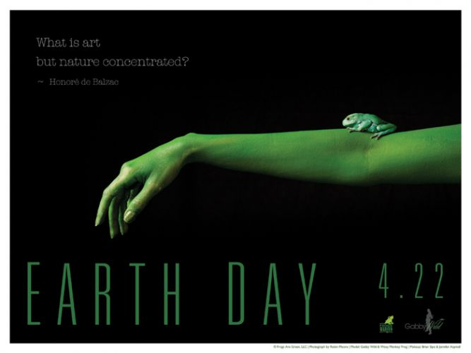 Earth Day Poster - Photo by Robin Moore