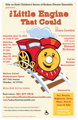 Little Engine That Could - poster design by Susan Newman
