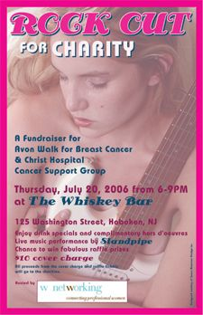 Rock Out for Charity poster and postcard design