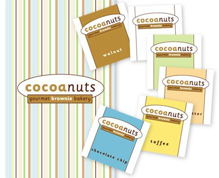 Cocoanuts branding and package design, label design