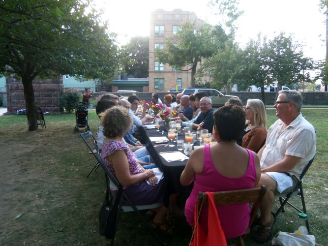 40 attending the Dinner in Park in Pershing Field.