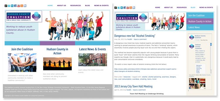 Hudson County Coalition Branding and web presence