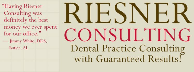 Riesner Consulting - Experts in Dental Management. Branding, logo design, marketing, website design, Powerpoint design, and social media design. Facebook cover design.
