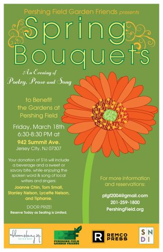 Spring Bouquets 2016 in Jersey City Heights - Poster design by Susan Newman
