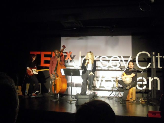 Morley, and musical group at TEDx Jersey City Women.