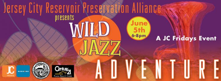 Wild Jazz Adventure at the Jersey City Reservoir - Poster and Facebook Cover by Susan Newman