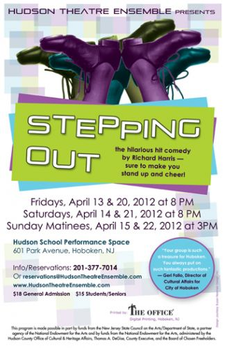 Stepping Out poster design