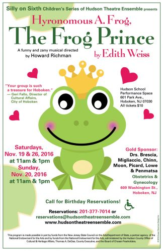 The Frog Prince performed by Hudson Theatre Ensemble of Hoboken