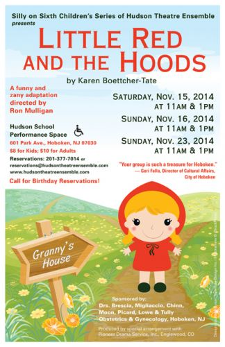 Little Read and the Hoods - poster design by Susan Newman for Hudson Theatre Ensemble of Hoboken