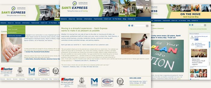 New responsive Website for Santi Express Moving and Storage by Susan Newman Design