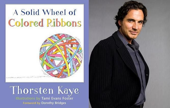 Thorsten Kaye's A Solid Wheel of Colored Ribbons - children's book cover and interior design
