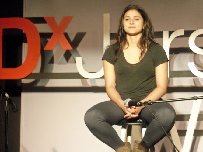 Ines Garcia at TEDx JC Women event at Art House Productions.
