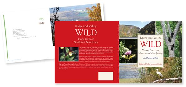 WILD - Young Poets on Northwest New Jersey - Art direction, book cover and interior design
