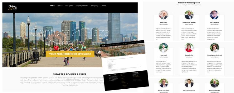 Century 21 Plaza Realty Corp - new website design by Susan Newman