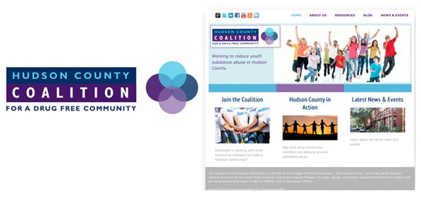 Hudson County Coalition - branding - logo, icon, web design