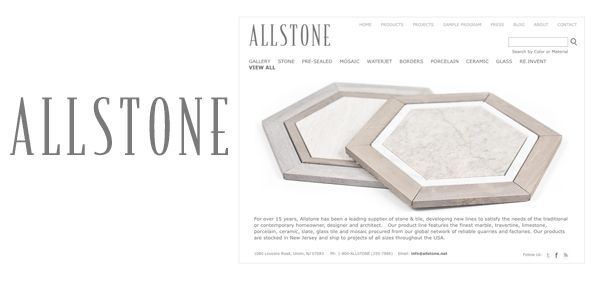 allstone rebranding design - wordmark and website design - Award Winner Graphic Design USA