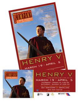 Actors Shakespeare Company - Henry V poster and signage