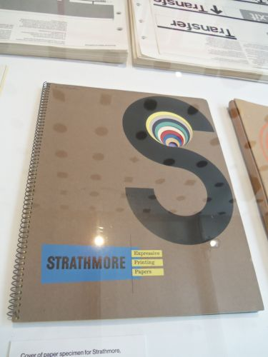 Strathmore die-cut promotional piece